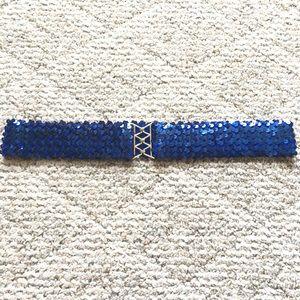 5/$15 Royal Blue Sequins Belt